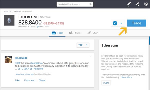 Trade Ethereum on eToro